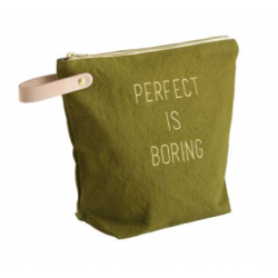 Toiletry bag Perfect is boring