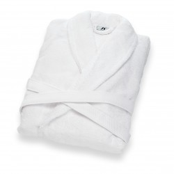 Bathrobe shawl collar...